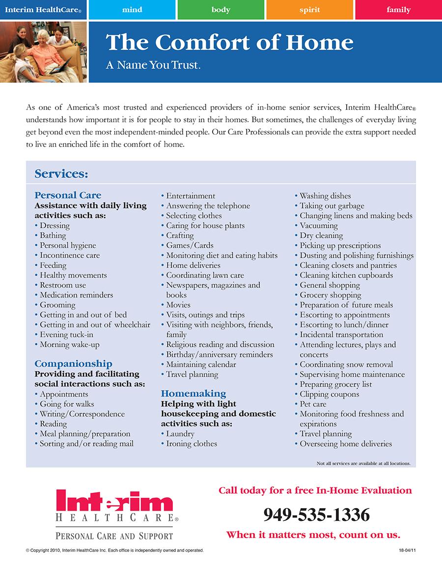Printex Printing and Graphics Interim Healthcare