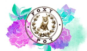 Foxy Pot Watercolor and Lotus Graphic