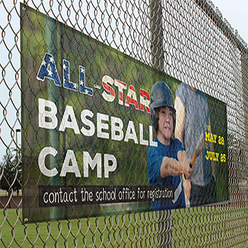 Vinyl Baseball and Sport Camp Fence Banners
