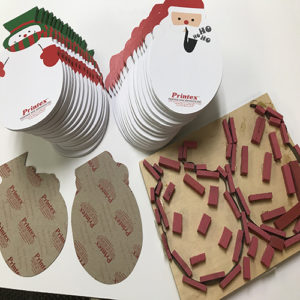 die cut holiday notepads
