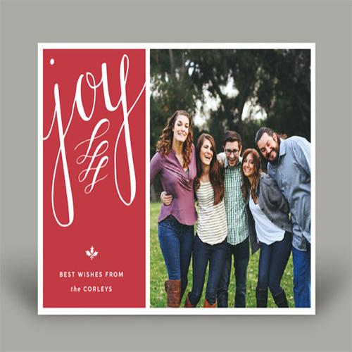 Joy Family Holiday Photo Card