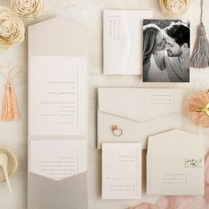 Tassel Rose Cream Wedding Invitations
