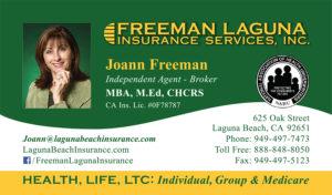 Laguna Beach Insurance Business Cards