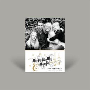 Happy Healthy and Hopeful Holiday Photo Cards
