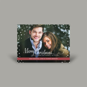 Couples Portrait Holiday Photo Cards