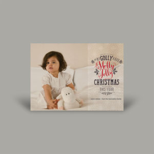 Toddler Photoshoot Holly Jolly Holiday Photo Cards