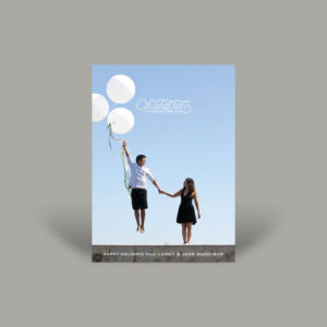 Creative Young Couple Holiday Card