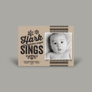 Newborn Baby Card-stock Holiday Card