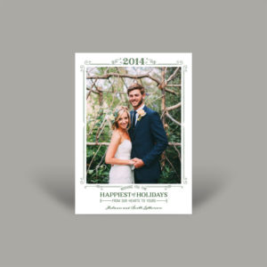 Outdoor Greenery Wedding Holiday Card