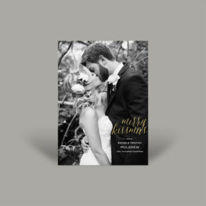 Black and White Wedding Holiday Card