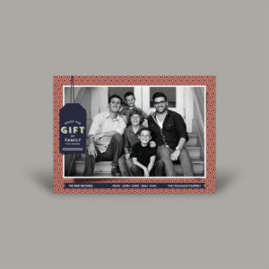 Black and White Family Portrait Holiday Greeting Card