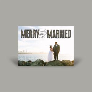 Newly Weds Coastal Holiday Photo Card