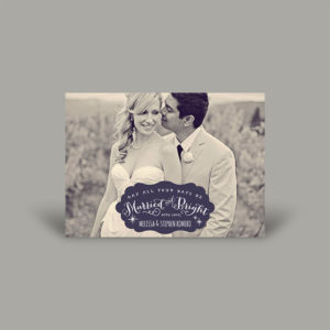Black and White Portrait Holiday Card