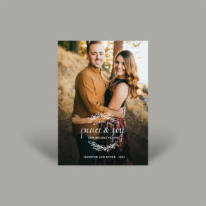 Golden Hour Young Couple Holiday Card
