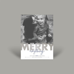Mother Daughter Holiday Photo Card