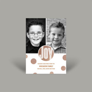 Rose Gold Glitter Holiday Photo Card