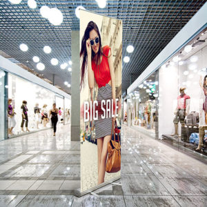 retractable vinyl banner stand