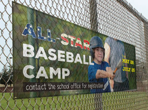 all-star baseball camp large outdoor banner