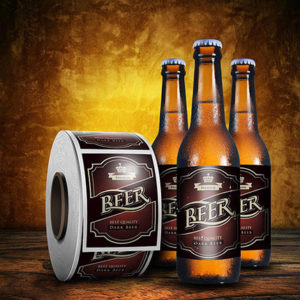 Beer Bottle Label And Roll For Restaurants And Bars