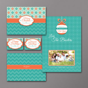 Custom Color and Design Holiday Photo Card