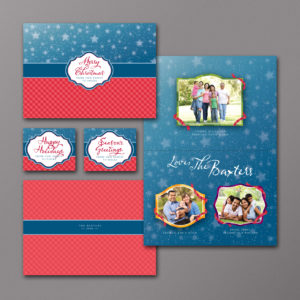Stars And Gingham Holiday Photo Card