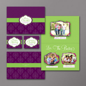 Bright and Colorful Custom Holiday Photo Card