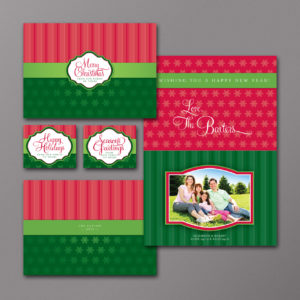 Holiday Stars And Stripes Photo Card