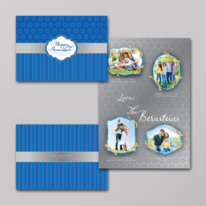 Jewish Hanukkah Holiday Photo Cards