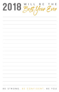 Best Year Ever Inspirational Notepad
