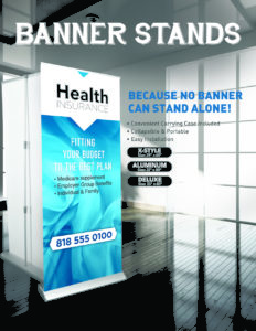 Health insurance collapsible banner stands