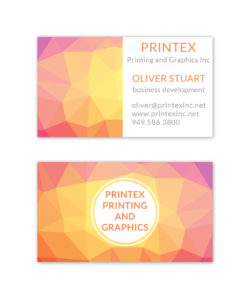 pink and yellow abstract business card design