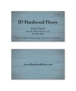 blue birch woodgrain business card