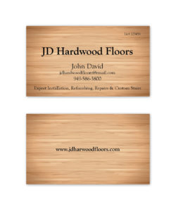 brown woodgrain business card