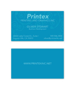 blue gradient spot uv swirl business card design