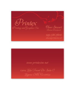 Gradient red vine business card design