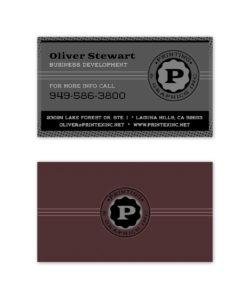 Grey plum business card design