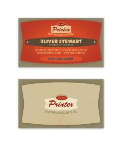 khaki red cream business card design