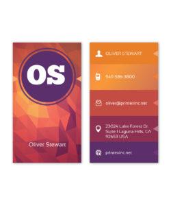 Multi color polygon business card design