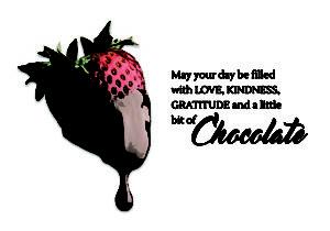 Chocolate Strawberry Note Printex
