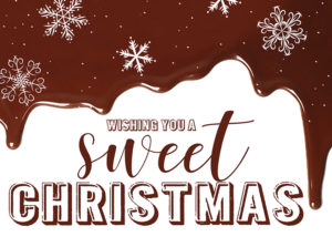 Melted Chocolate, Sweet Christmas holiday greeting card