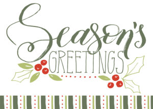 Season's Greetings custom notecard