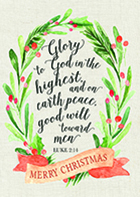 glory to god holiday christmas card