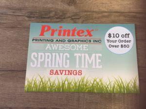 Printex spring time promotional signage