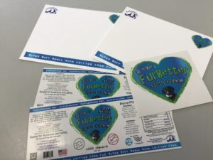 product labels sticker and note cards