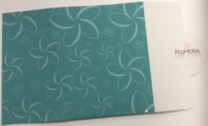 Tropical design raised spot uv presentation folders