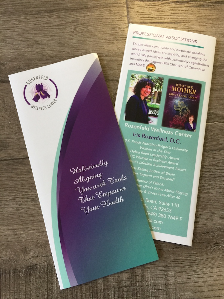 Wellness Center custom tri-fold brochure