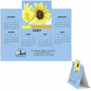 Get custom branded die cut calendars to really stand out to your clients.