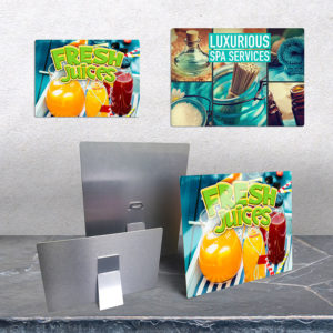 Custom aluminum signs for restaurants and juice places