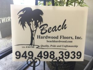 Coroplast custom printed sign.