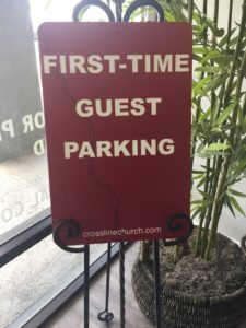 Custom Printed PVC Sign For Church Parking Printed Locally